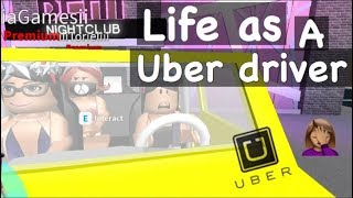 Being an Uber / Taxi Driver in BloxBurg! - Roblox