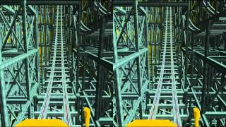 3D Rollercoaster: Cheesy (3D for PC/3D phones/3D TVs/Crossed Eyes)