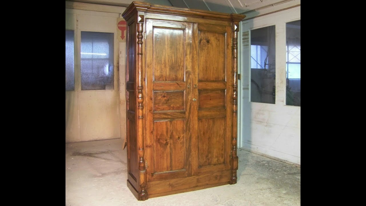 Como restaurar un mueble antiguo ( 5ª parte) barnizado - YouTube