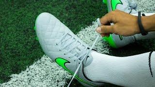 idiota emparedado lamentar  Review & On-Feet: Nike Tiempo Legend V Wolf Grey/ Green Strike - YouTube