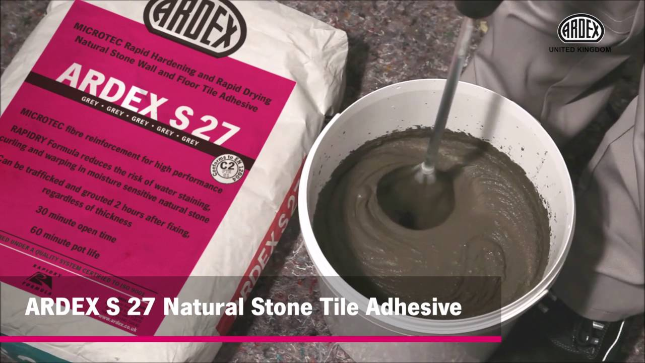 ardex microtec s 27 s 28 natural stone tile adhesives youtube. Black Bedroom Furniture Sets. Home Design Ideas