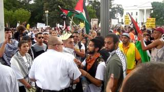 National March on the White House for Gaza [2014.08.02]  (90 sec of raw footage)