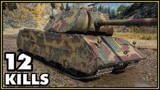 VK 168.01 (P) - 12 Kills - 1 vs 6 - World of Tanks Gameplay