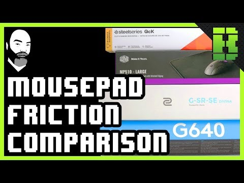 Mouse Pad Comparison Logitech G640 vs Steelseries Qck vs MP510 Cooler Master vs Zowie GSR SE Divina