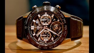 This is a video review of the Tag Heuer Carrera Heuer-02T tourbillo...