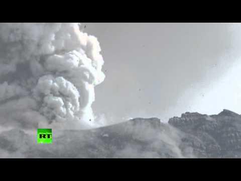 Video: Huge volcano erupts, shoots giant ash column in Ecuador