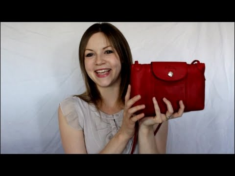 6ead392fdf45e Review - Longchamp Cuir Crossbody in Cherry - YouTube