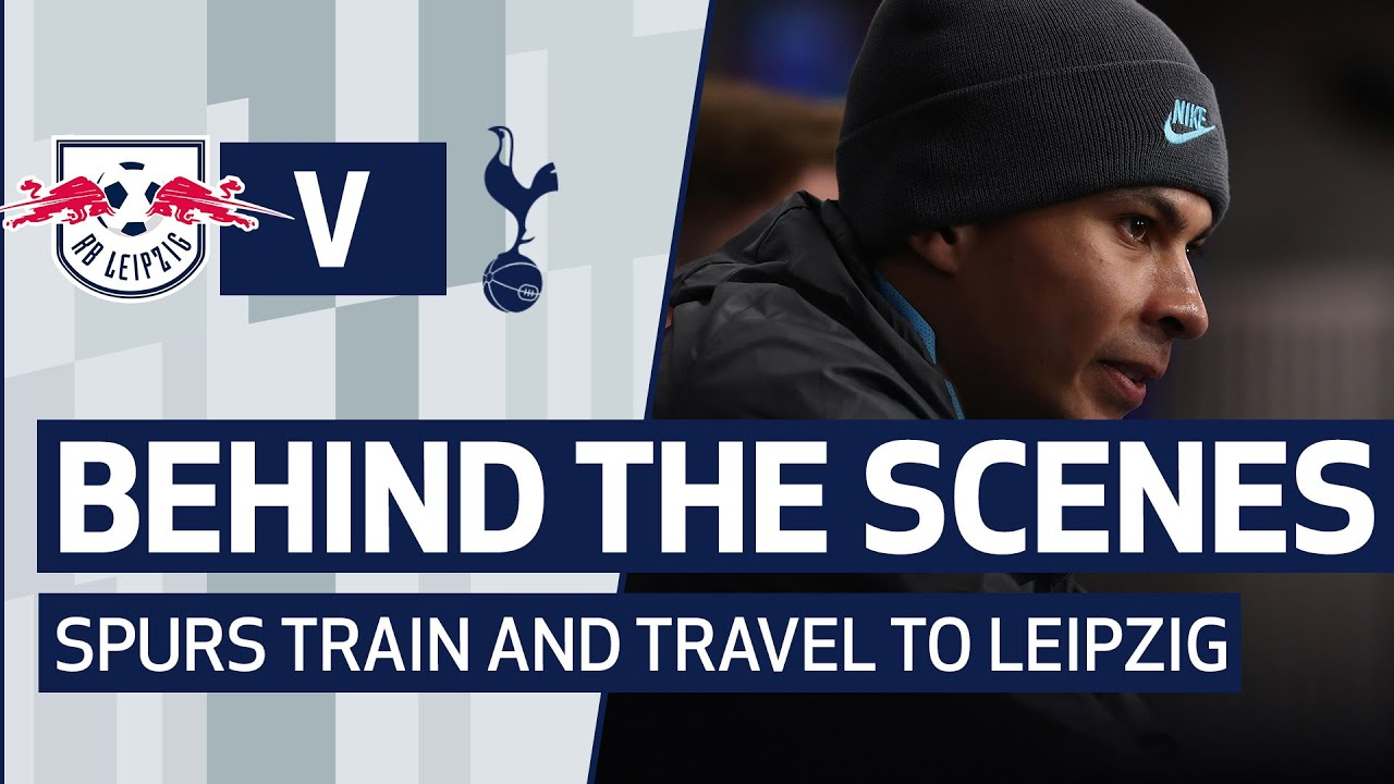 BEHIND THE SCENES | SPURS TRAIN AND TRAVEL TO LEIPZIG | RB LEIPZIG V SPURS