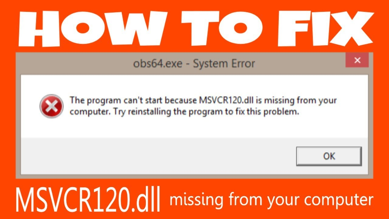 how to fix msvcr120.dll missing windows 8