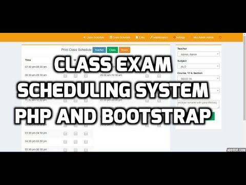 Online Class And Exam Scheduling System Using PHP And Bootstrap