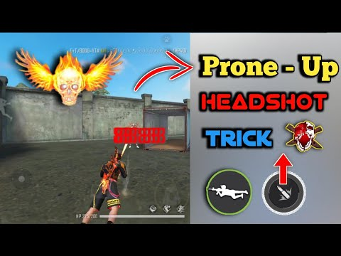 Prone Up HEADSHOT Trick On Moblie Free Fire [Hindi] || Headshot Like Pc Player On Moblie Free Fire