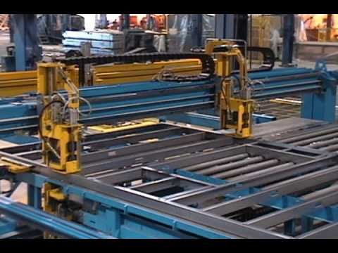 High Efficiency Steel Frame Production Line Robotized