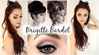 Brigitte Bardot Big Hair & Makeup Feat. Garnier Full & Plush Products! - Jackie Wyers