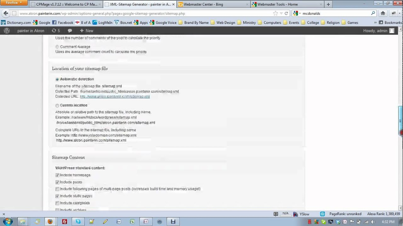 on page seo part c webmaster tools youtube