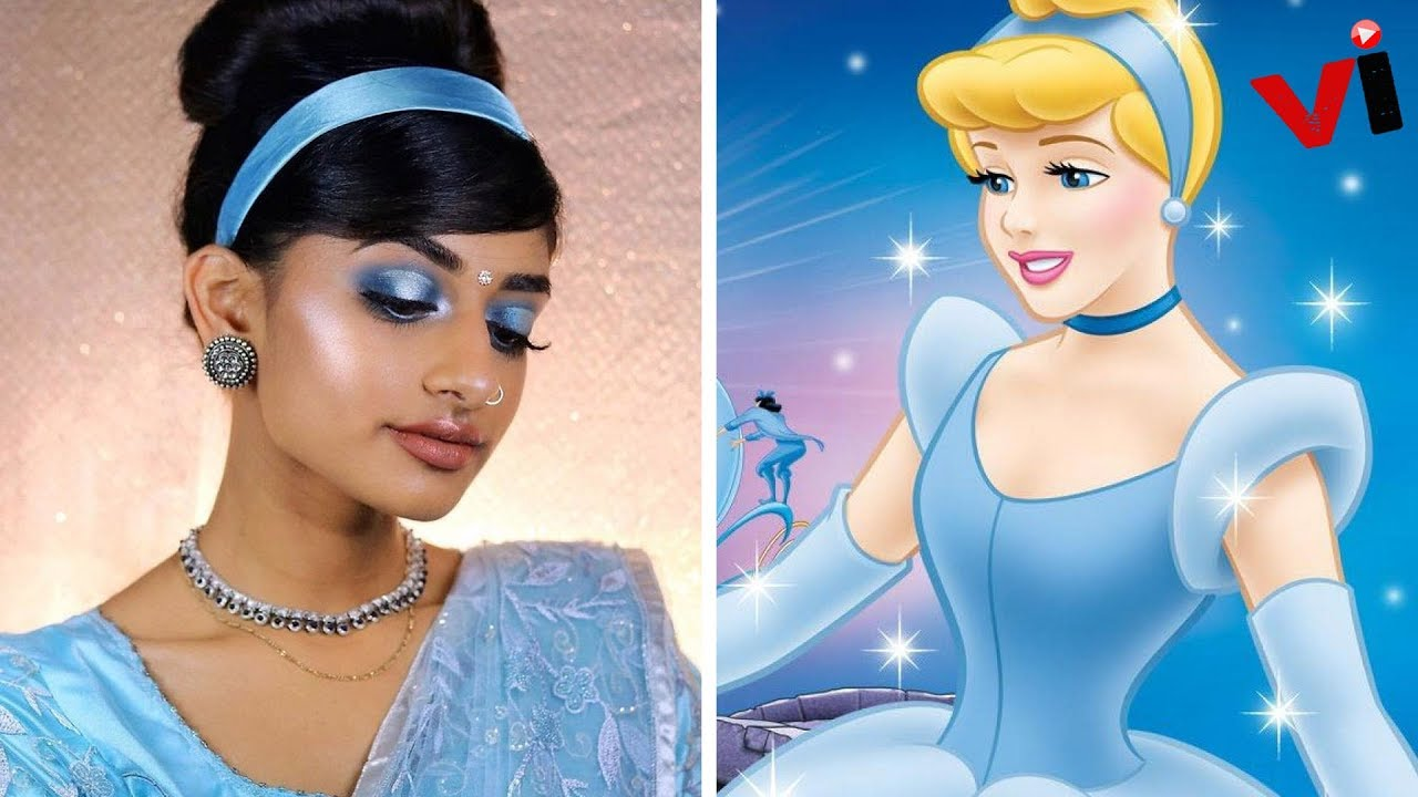 The model showed what Disney princesses would look like if they were Indian 100