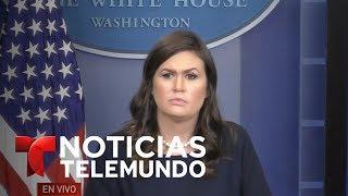 EN VIVO:  Rueda de prensa de la portavoz de la Casa Blanca, Sarah Huckabee (traducción en español)