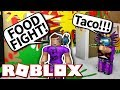 ROBLOX FOOD FIGHT!! *CRAZY!*