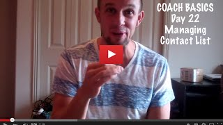 Coach Basics Day 22 Managing Your Contact List