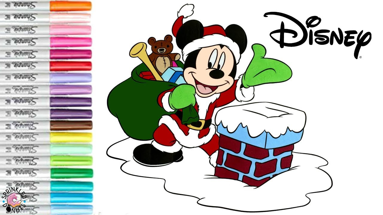 Mickey Mouse Clubhouse Christmas Coloring shaun the sheep colouring in