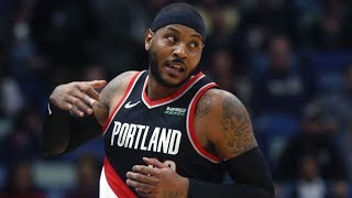 Carmelo Anthony Blazers Debut! Holiday Spin to Dunk! 2019-20 NBA Season Video