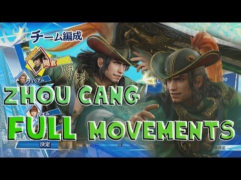 Musou ☆ Stars - Zhou Cang Full Movements Gameplay