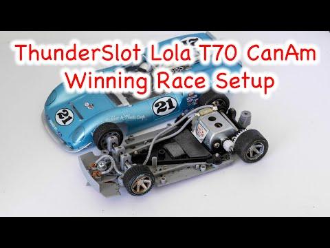 ThunderSlot Lola T70 Mario Andretti Livery CanAm 1/32 scale slot car
