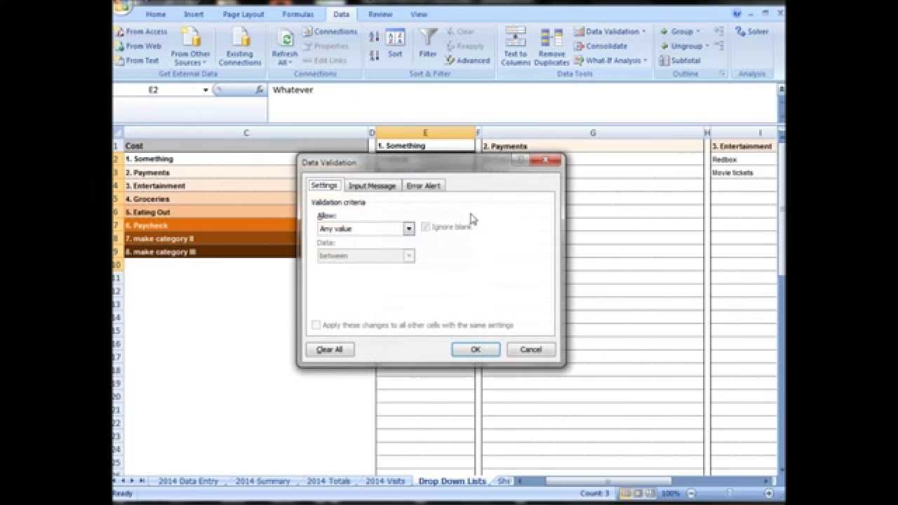 excel tutorial making an advanced budgeting or profit loss