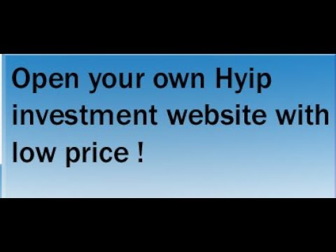 you can Start your own Hyip investment website Through Hyipfresh.com
