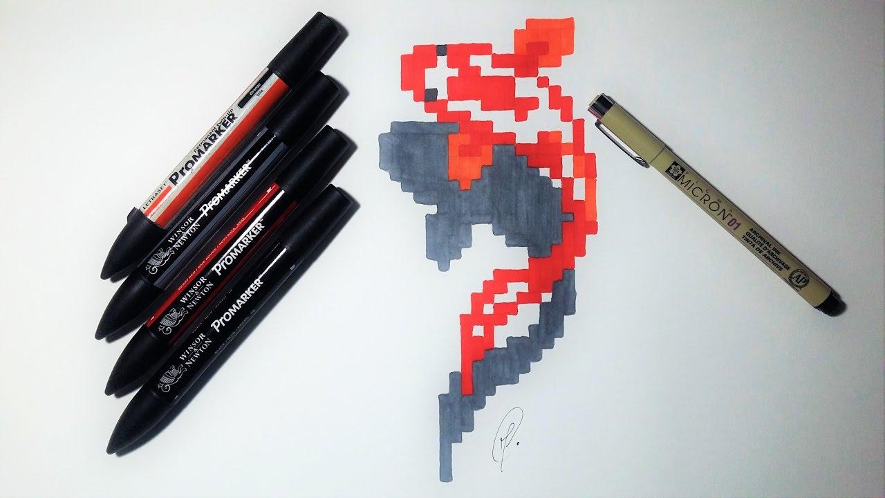 Fish Koï Drawing Pixel Art