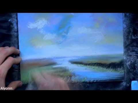 Speed pastel painting landscape art [23]