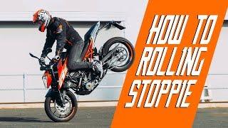 How to rolling stoppie / Duke 250 - RokON VLOG #31