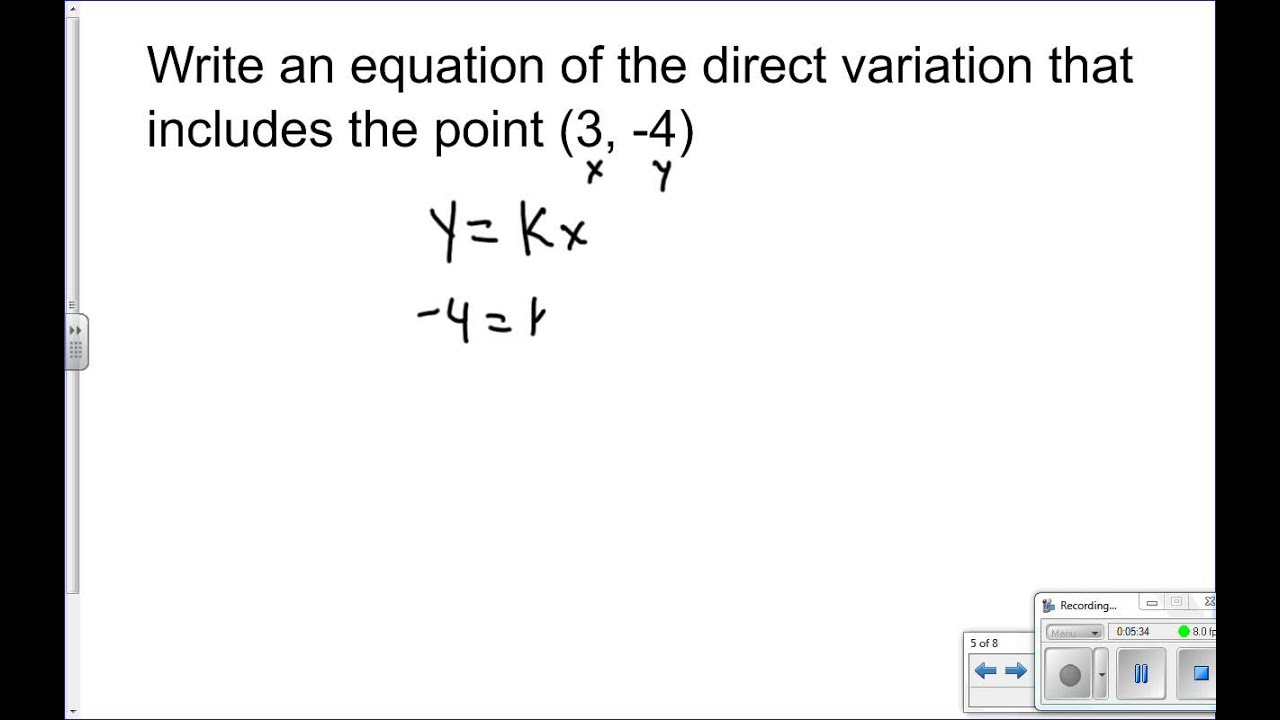 Direct Variation Constant Of Chapter 2 3 Warm Up Solve Each