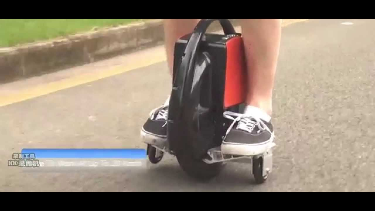 How To Ride An Electric Unicycle Scooter Uni Wheel Self