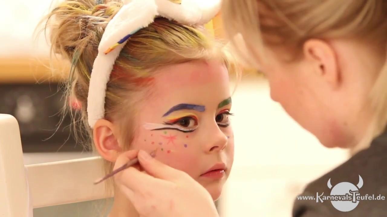 Ein Einhorn Schminken Karnevalsteufel De Schmink Video Tutorial