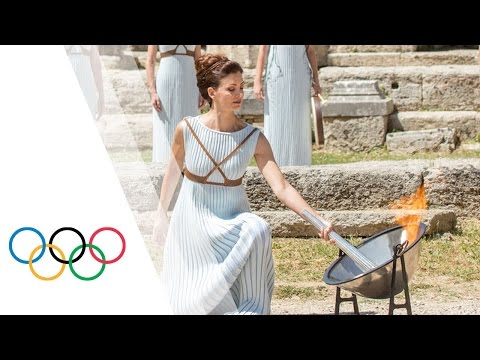 Highlights of the Olympic Flame Lighting Ceremony for the Rio 2016 Olympic Games