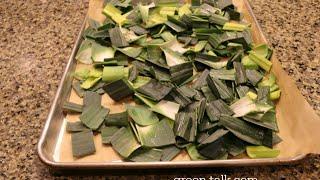 Leek Greens:  Don't Toss 'Em.  Dehydrate Them & Use!