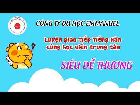 Cùng học tiếng hàn với bạn Khánh Hiền, học sinh sơ cấp 1 lớp cô Hương tại thị trấn An Dương