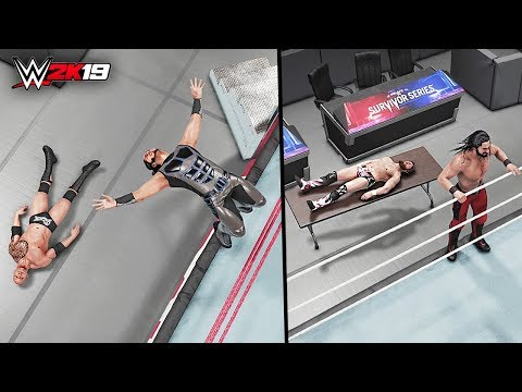 WWE 2K19 Top 10 Apron Diving Moves!!