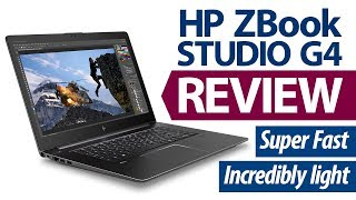 HP ZBOOK STUDIO G4 REVIEW! Insane Workstation Performance that's Crazy Light!