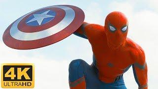 Чувачооок! Первое появление Человека-паука. Первый Мститель: противостояние (2016) 4K HDR