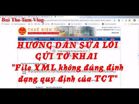 """Hướng dẫn sửa lỗi """"File XML không đúng định dạng của TCT"""""""