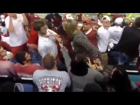 Alabama Fan SHOOTS Auburn Fan!
