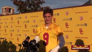 QB Kedon Slovis after USC's first day of spring camp