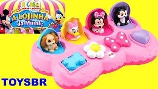 TOYSBR A Loja de Laços da Minnie Mouse Pop Up Surpresa em Portugues A Casa do Mickey Surprise Pals
