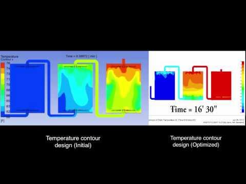 Thermal Storage Tank and Thermal Storage System (TES) Design Optimization