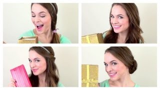 4 Quick Christmas Morning Hairstyles!