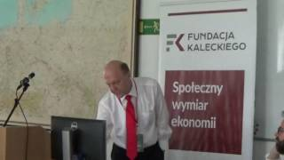 Prof. Zbigniew Polański at Redefining economics: beyond the neoclassical approach