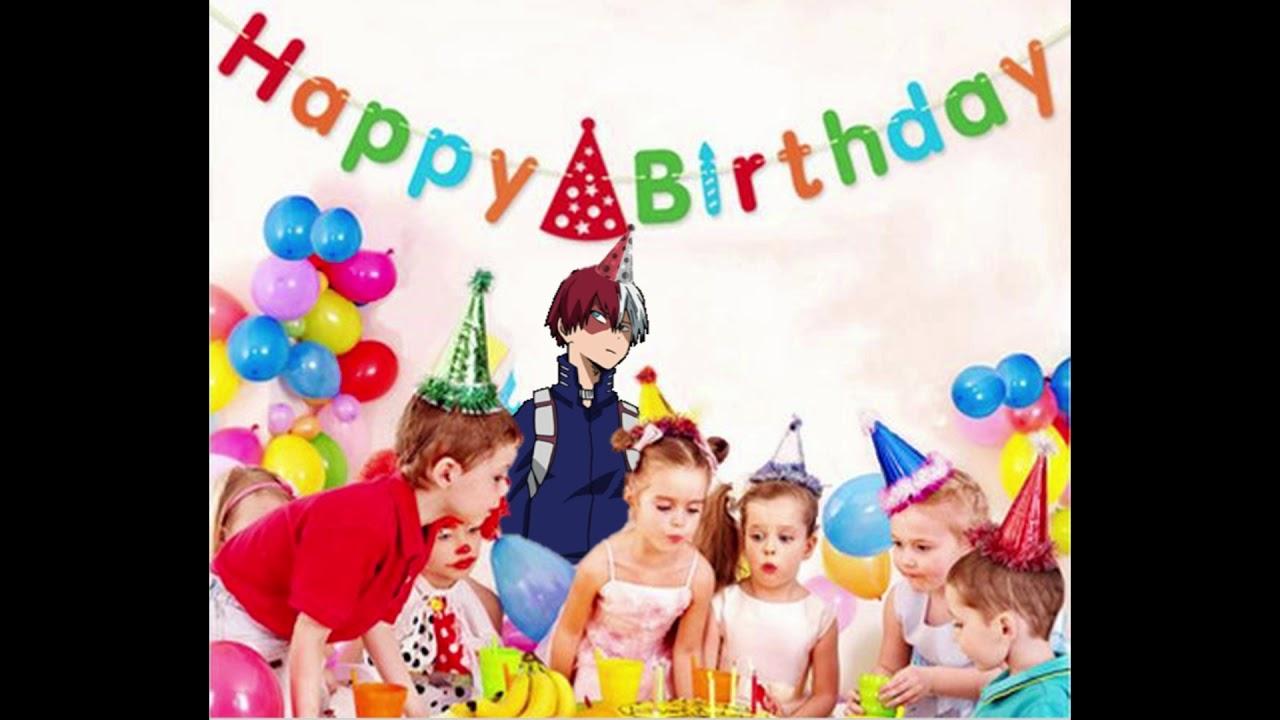 BNHA Todoroki Saying Happy Birthday