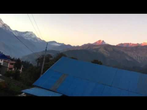 Sunset view from Ghorepani village