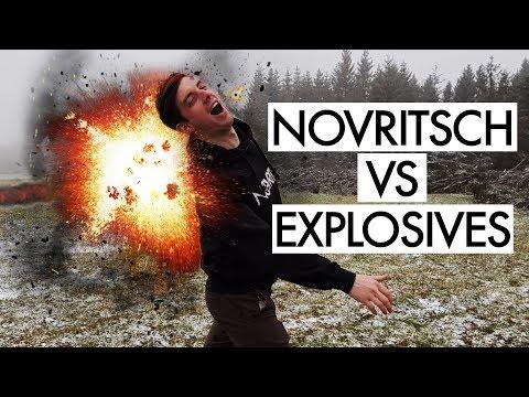 NOVRITSCH getting shot with EXPLOSIVES